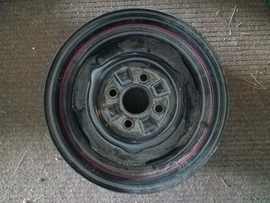 1964 To 1967 Ford 14 Inch 4 Lug Steel Wheel Rim Ne