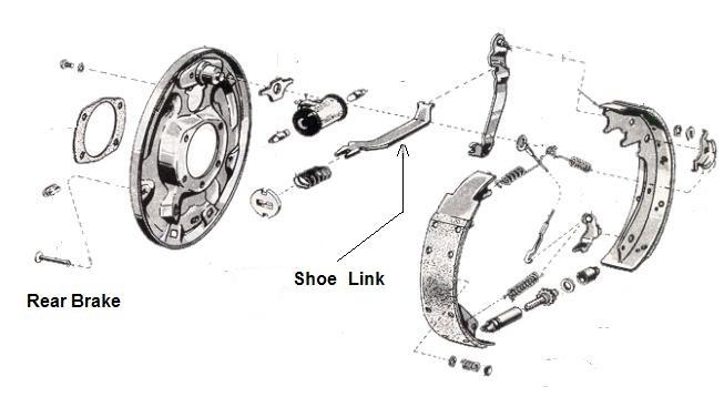 1965 1970 Mustang 10 Inch Rear Drum Shoe Link Ne